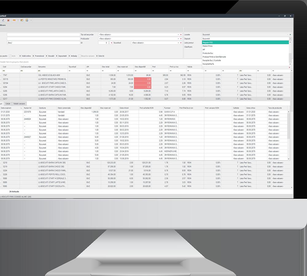 monitor productie si aprovizionare screenshot sistem erp senior