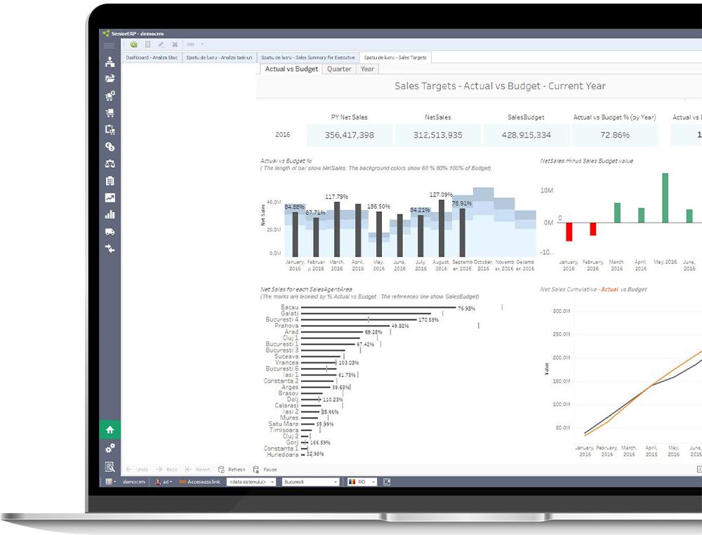 Sistemul ERP, Costuri, Bugete, Target, Cash-flow, Calcul comisioane agenti si Controlling